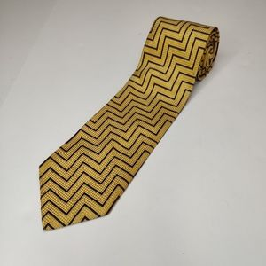Bachrach Men's Tie Purple & Gold